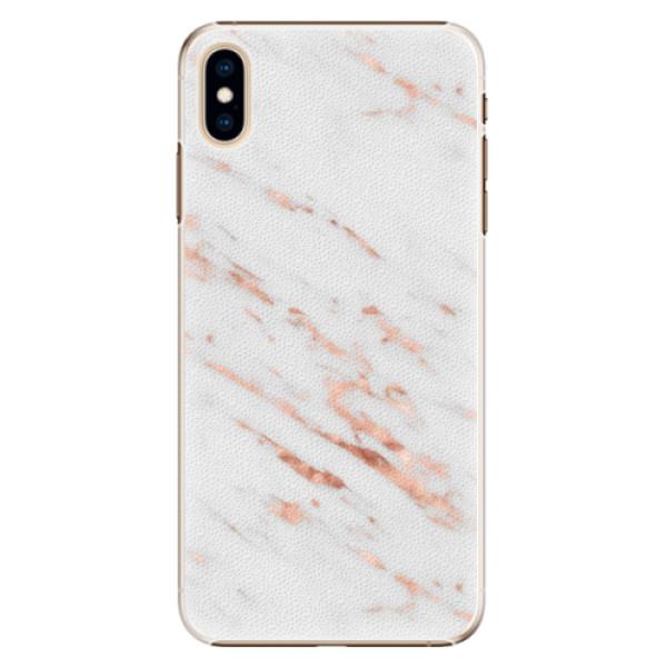 Plastové pouzdro iSaprio - Rose Gold Marble - iPhone XS Max