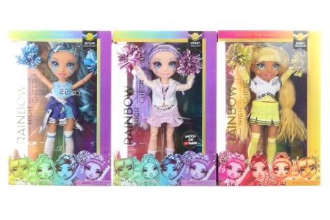 Rainbow High Fashion panenka - Roztleskávačky, 3 druhy