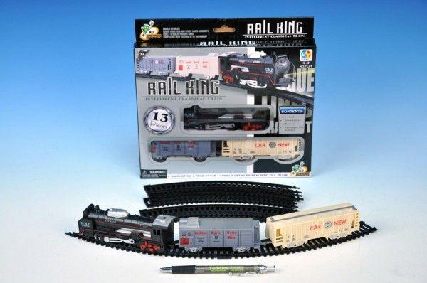 Vlak s kolejemi plast 67cm na baterie v krabici