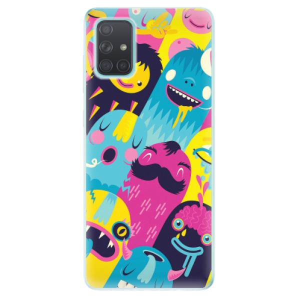 Odolné silikonové pouzdro iSaprio - Monsters - Samsung Galaxy A71