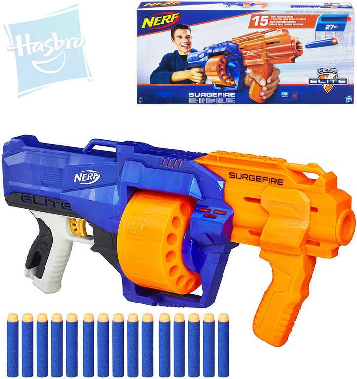 HASBRO NERF N-Strike Elite Surgefire set pistole blaster + 15 šipek