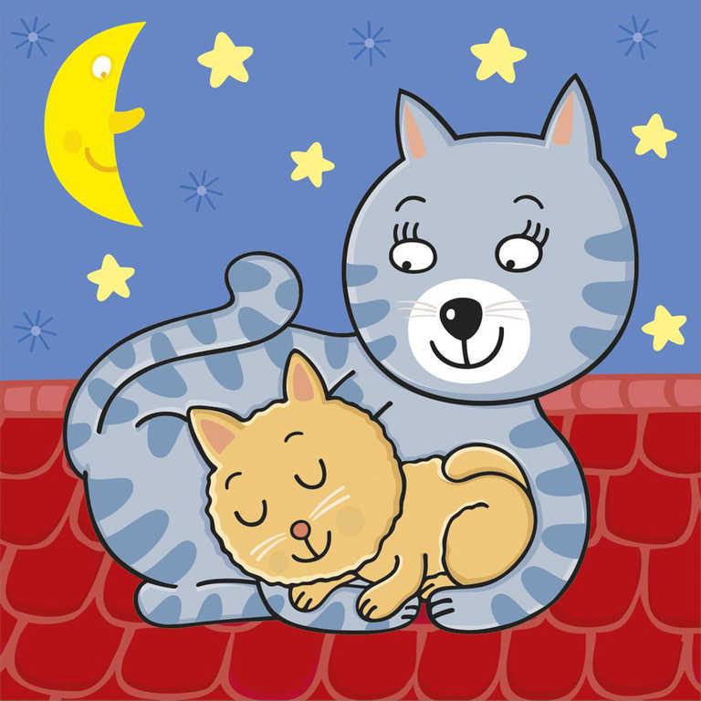 DINO Baby puzzle 12 dílků Zvířátka 18x18cm skládačka 3v1 velké dílky