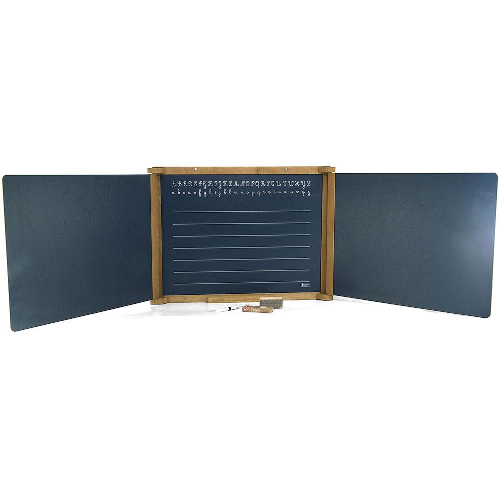 Jeujura Dřevěná trojkřídlá multifunkční tabule 156x43 cm s příslušenstvím