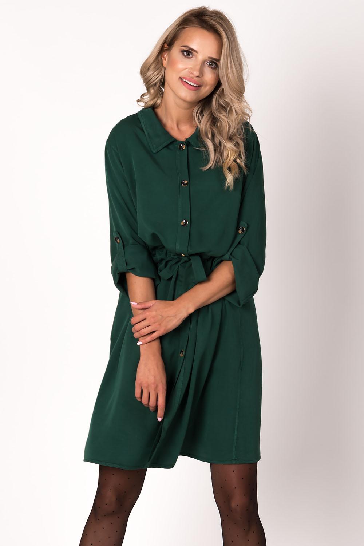 Dámské šaty Avaro SU-1495 - Lahvově zelená UNI b5c9e8d8df