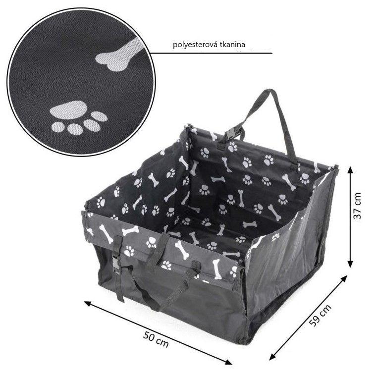 GARTHEN psí taška s chladící podložkou, 50 x 59 x 37 cm