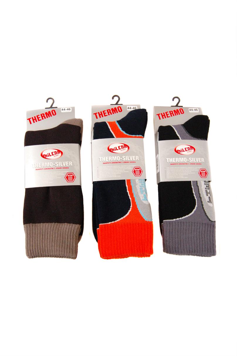 Pánské ponožky Thermo-silver - MILENA - Mix barev/41-43