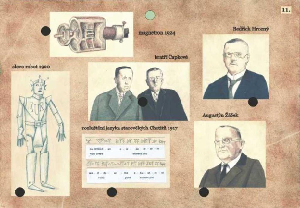 VOLTÍK Hra elektrická vědomostní Naši vynálezci 16 listů s obrázky Světlo