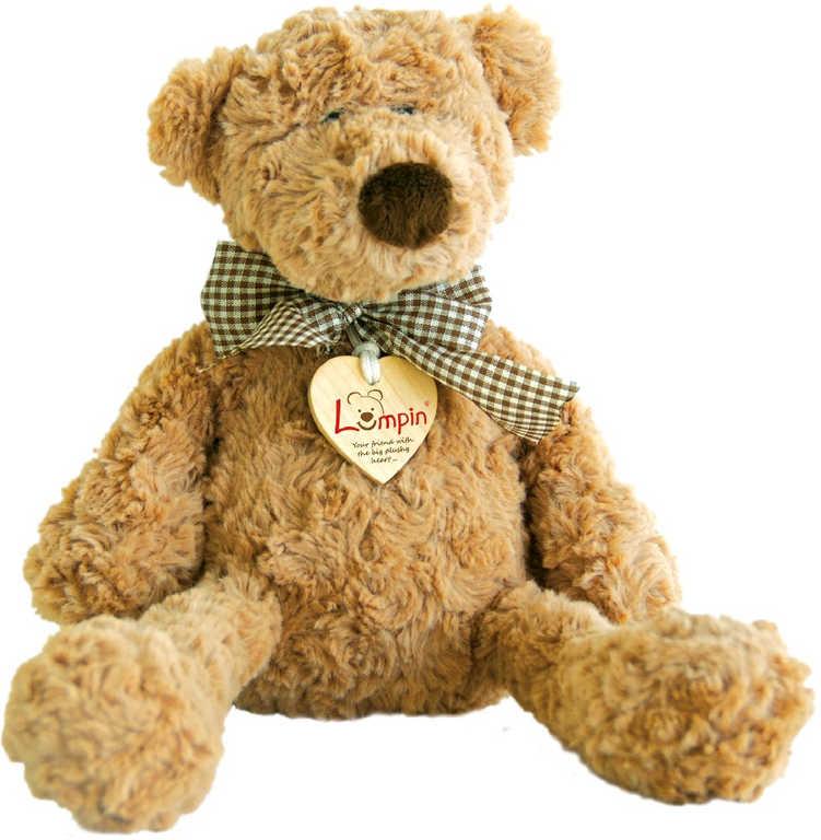 PLYŠ Medvěd Lumpin 46 cm s mašlí na krku velký