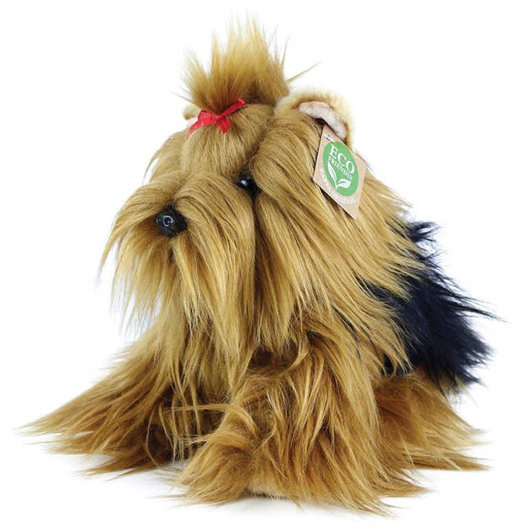 PLYŠ Pes jorkšírský teriér 23cm sedící Eco-Friendly *PLYŠOVÉ HRAČKY*