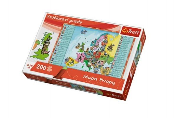 vzdelavaci-puzzle-mapa-evropy-200-dilku-60x40cm-v-krabici-33x23x6cm