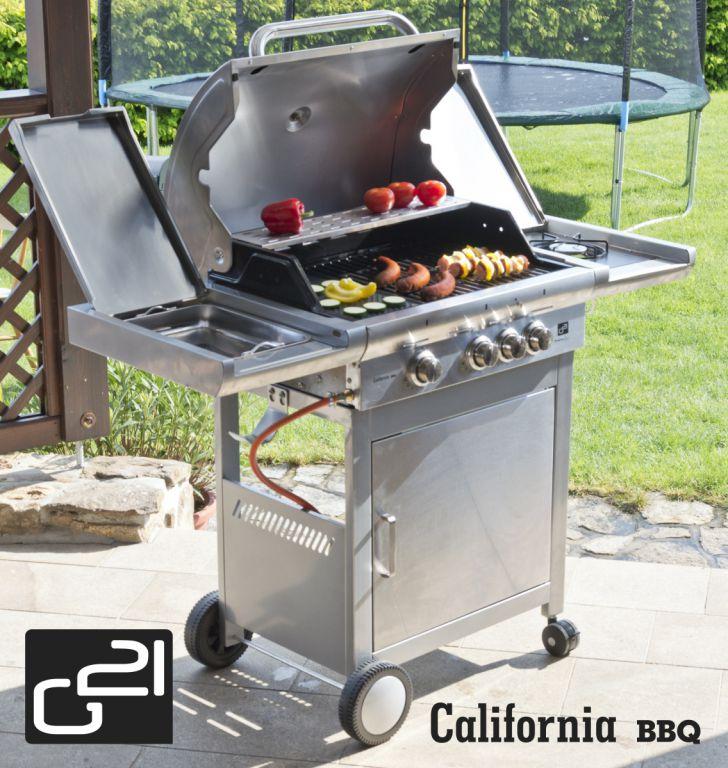 Plynový gril G21 California BBQ Premium line, 4 hořáky + zdarma redukční ventil