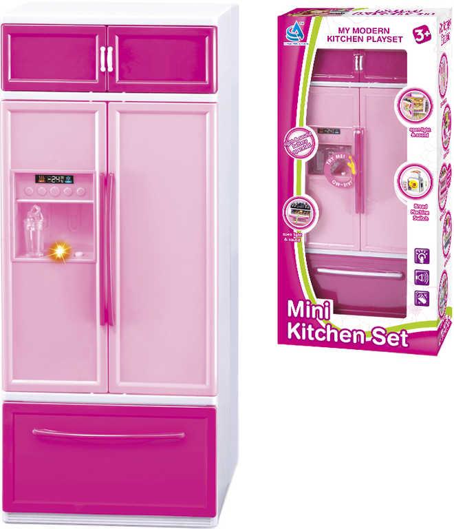 Dětská kuchyňka chladnička herní set s efekty na baterie Světlo Zvuk