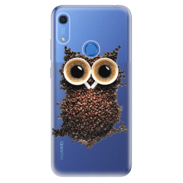 Odolné silikonové pouzdro iSaprio - Owl And Coffee - Huawei Y6s