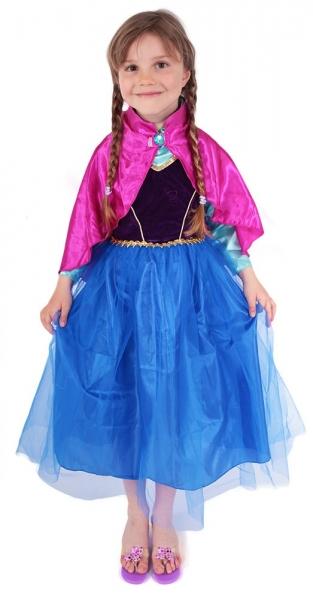 Karnevalový kostým princezna zimní království Anička DELUXE, vel. S