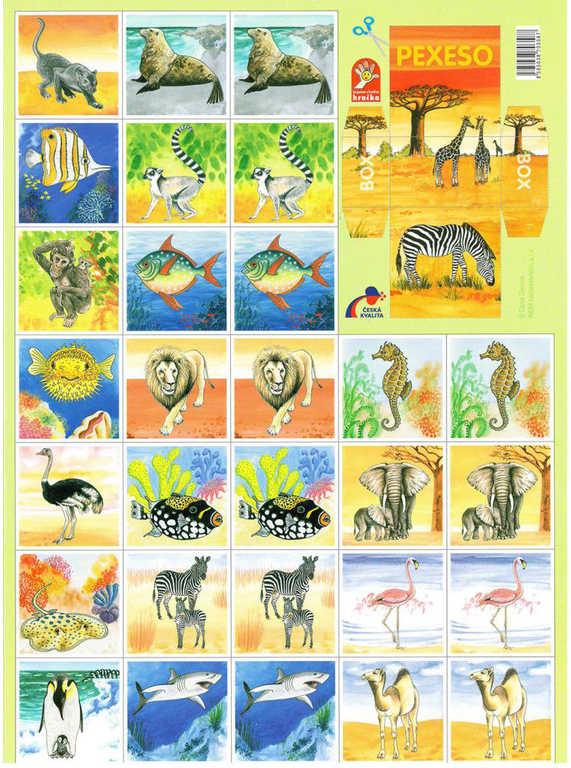 AKIM Hra pexeso Svět zvířat 32 dvojic *SPOLEČENSKÉ HRY*