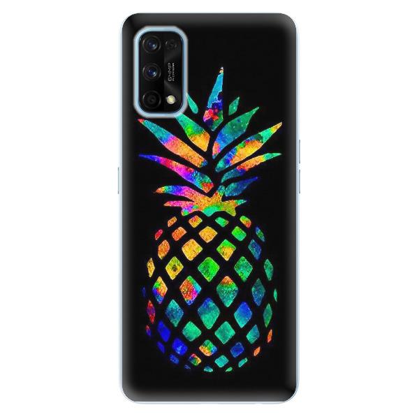 Odolné silikonové pouzdro iSaprio - Rainbow Pineapple - Realme 7 Pro