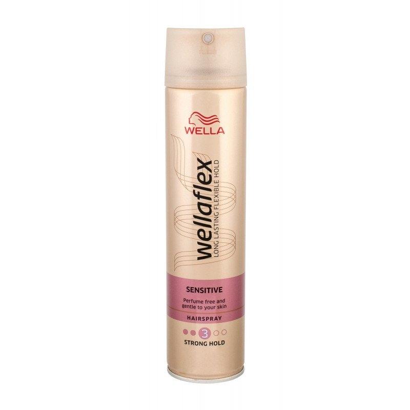 Wellaflex Sensitive silné zpevnění lak na vlasy pro citlivou pokožku 250 ml