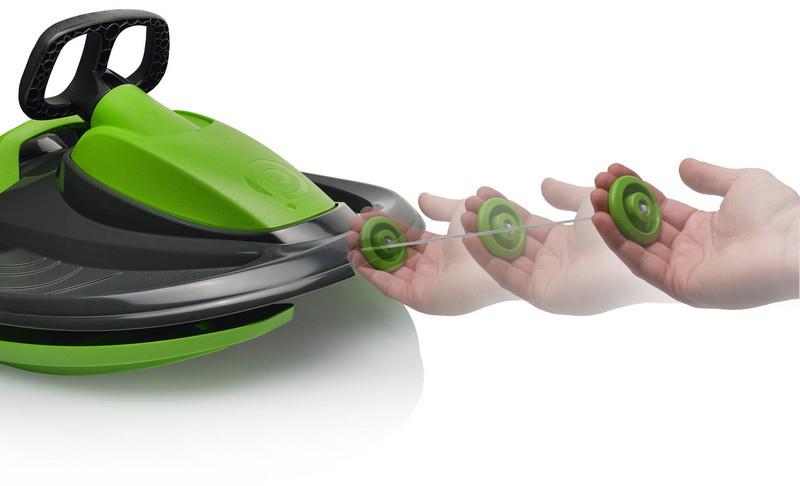 PLASTKON Boby řiditelné s volantem Stratos Šedý plast