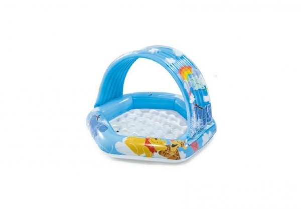 Bazén dětský nafukovací dno se stříškou 1-3 let 43x40x28cm v krabici 22x24x7cm