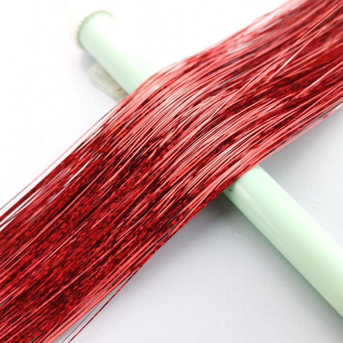 Pozlátko do vlasů - červené