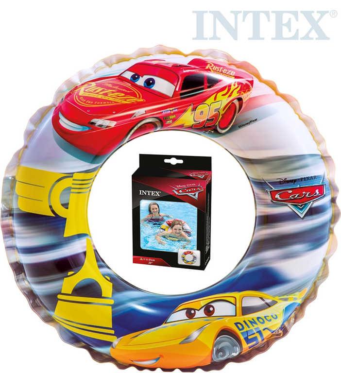 INTEX Kruh nafukovací Auta (Cars) 51cm plavací kolo do vody 58260