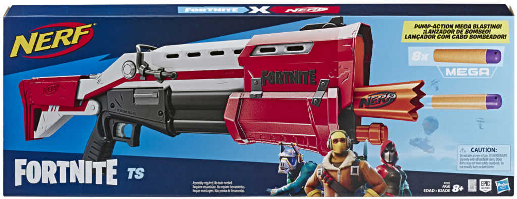 HASBRO NERF MEGA Fortnite TS set blaster + 8 šipek v krabici