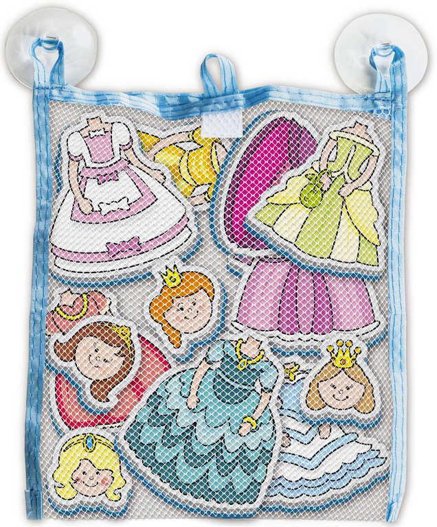 Vodolepky Moje první pohádky Princezny set 12ks v síťce s přísavkami do vany