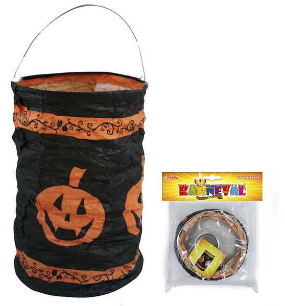 Lampion potisk dýně 15 cm krčený čajová svíčka Halloween