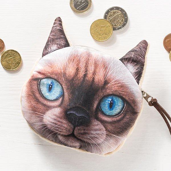 Kočičí peněženka na drobné - model