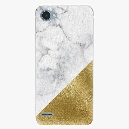 Plastový kryt iSaprio - Gold and WH Marble - LG Q6