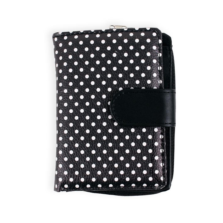 - Designová peněženka - Černobílé puntíky