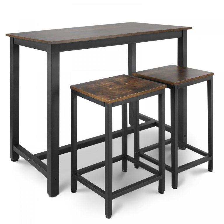 Miadomodo Retro barový stůl + 2 stoličky