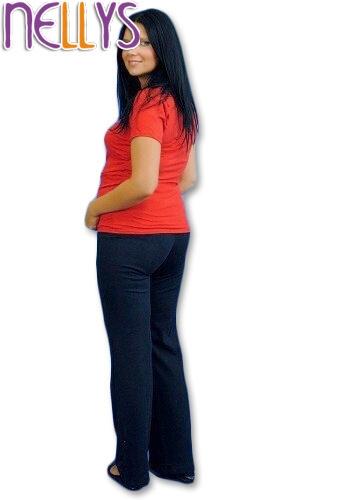 Těhotenské tepláky - granát - L