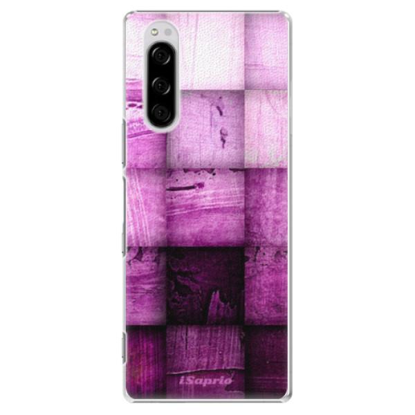 Plastové pouzdro iSaprio - Purple Squares - Sony Xperia 5
