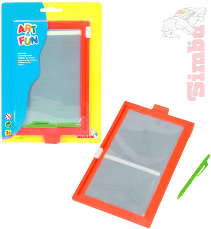 SIMBA Tabulka dětská magnetická na kreslení set s perem oranžová