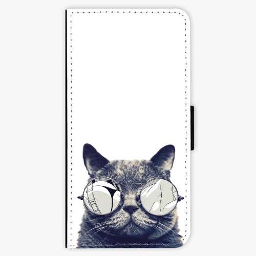 Flipové pouzdro iSaprio - Crazy Cat 01 - iPhone 7 Plus