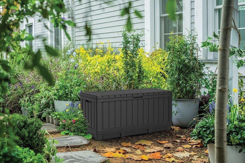 Zahradní box Kentwood, 350 l, hnědý