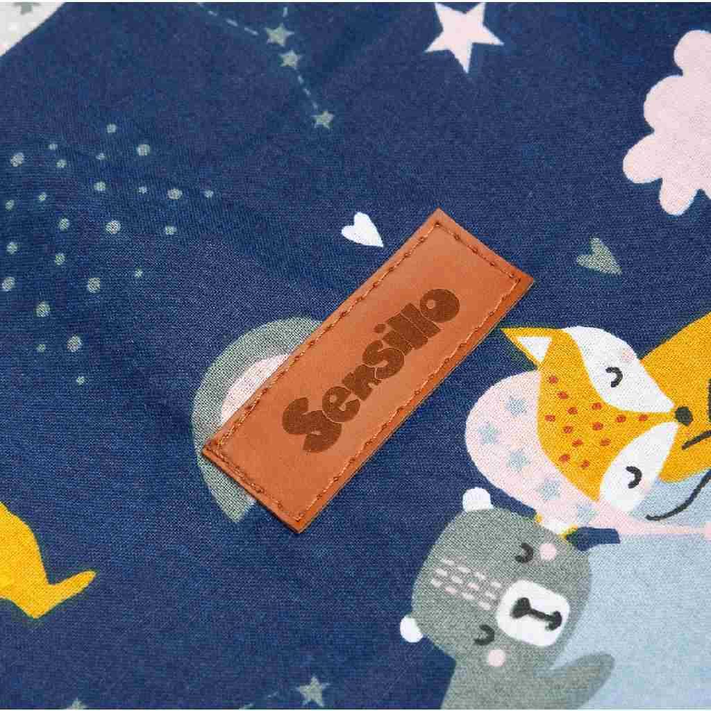 Koš na hračky Sensillo lišky tmavě - modrá