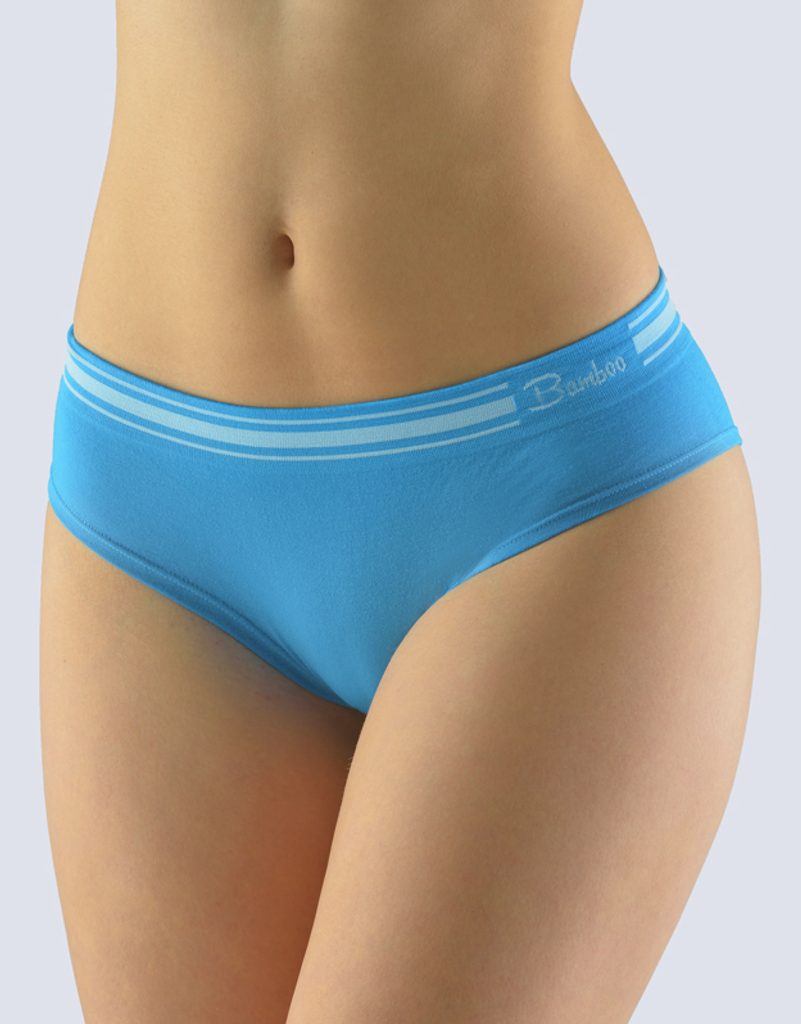 GINA dámské kalhotky francouzské, bezešvé, bokové, jednobarevné Natural Bamboo 04028P - dunaj bílá