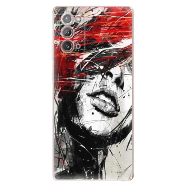 Odolné silikonové pouzdro iSaprio - Sketch Face - Samsung Galaxy Note 20