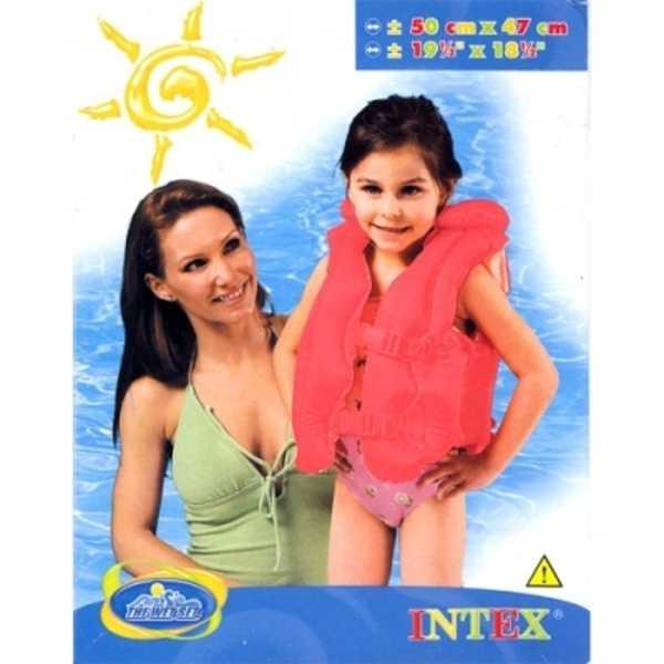 INTEX Vesta plavací nafukovací červená 3 - 6 let - plavací