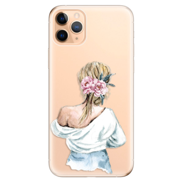 Odolné silikonové pouzdro iSaprio - Girl with flowers - iPhone 11 Pro Max