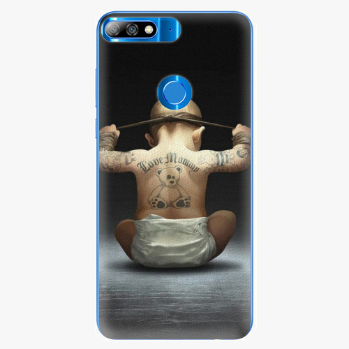Silikonové pouzdro iSaprio - Crazy Baby - Huawei Y7 Prime 2018