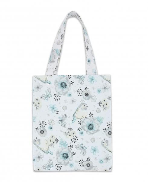 Bavlněná taška Baby Nellys Mini pro děti - Ptáčci mátoví