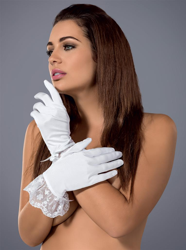 Rukavičky Etheria gloves - Obsessive - Bílá/uni