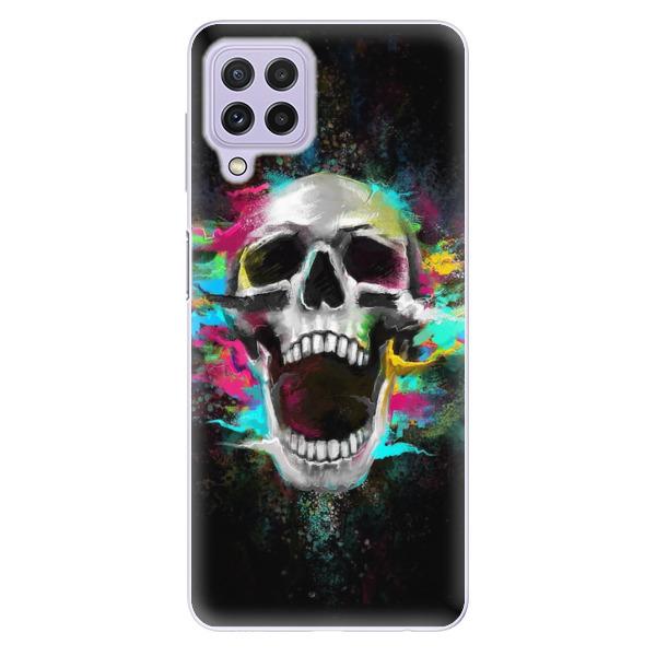 Odolné silikonové pouzdro iSaprio - Skull in Colors - Samsung Galaxy A22