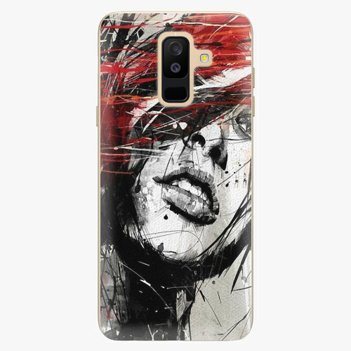 Plastový kryt iSaprio - Sketch Face - Samsung Galaxy A6 Plus