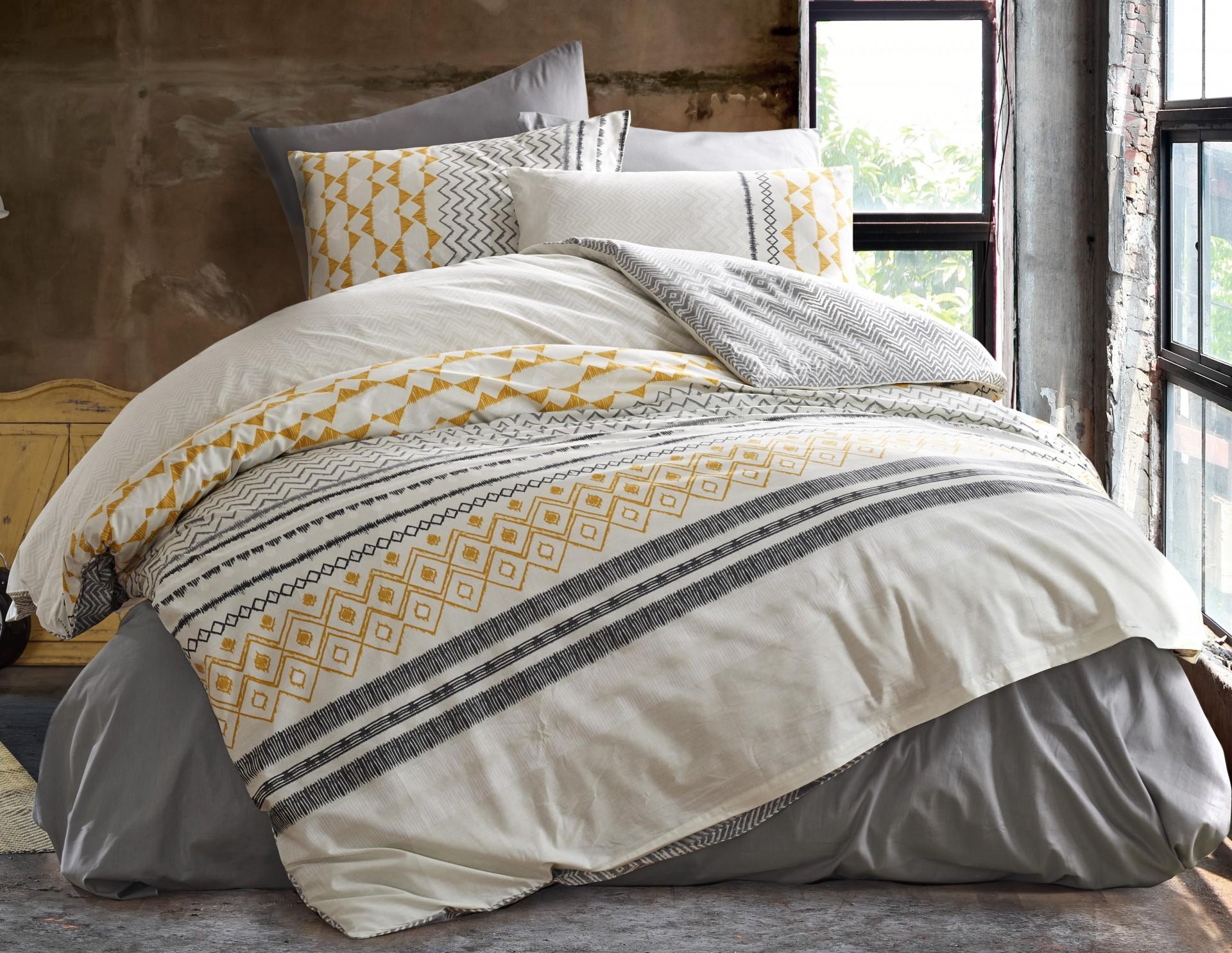 Povlečení francouzské bavlna 200x200,70x90 Litea natur, Výběr zapínání: