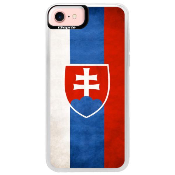 Neonové pouzdro Pink iSaprio - Slovakia Flag - iPhone 7