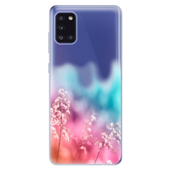 Odolné silikonové pouzdro iSaprio - Rainbow Grass - Samsung Galaxy A31